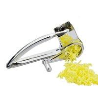 paslanmaz çelik peynir dilimleme makinesi toptan satış-Çevre Dostu Yüksek kaliteli Paslanmaz Çelik Peynir Rende Dilimleme Shreds Davul El Zencefil rendeler Kesici Mutfak Gereçleri Oyuncak Döner Chee Held