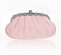 noite chinesa bolsas venda por atacado-Novo Design de Champanhe Saco de Noite de Casamento Das Mulheres Chinesas de Cetim Banquete Embreagem bolsa Elegante Bolsa de Festa de Noiva Saco de Maquiagem 5011