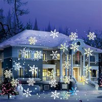Wholesale move lamp for sale - Group buy Snowfall Projector IP65 Moving Snow Outdoor Garden Laser Projector Lamp For New Year Party decor Christmas Snowflake Laser Light
