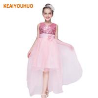dfa3532e9814a1 kinder schwanz kleider großhandel-Baby Mädchen Hochzeit Kleid Kinder  Kleidung Mädchen Kleider Kinder Long Tail