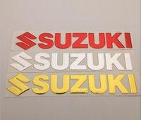 tanques suzuki al por mayor-Etiqueta engomada de la etiqueta engomada del emblema de la careta del tanque de combustible de los 25cm para las motocicletas que compiten con de SUZUKI