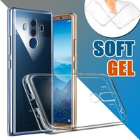 Wholesale gel mate - Ultra Thin Slim Soft TPU Gel Silicone Rubber Clear Transparent Flexibile Case Cover Skin For Huawei P20 Pro Lite P10 P9 Plus Mate 10 Pro V10