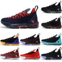 Wholesale fresh slip shoes - Mens Basketball shoes s XVI For lebrons sneakers lakers james trainers Black White Red Sports Shoes Fresh Bred Men designer shoes size7