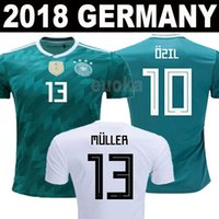 Wholesale Away Man - Thailand 2018 Germany World Cup jerseys MULLER KROOS OZIL HUMMELS WERNER Football shirts 18 19 Germany National Team home away Soccer Jersey