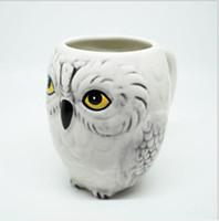 Wholesale tea coffe - 350ml mugs Hedwig Owl Mug Ceramic Mug Coffe Cup Xmas Gift Collection Breakfast milk cup Office tea cups