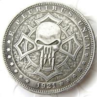 d14135f03 Wholesale arts skeletons online - HB US Hobo Morgan Dollar skull zombie  skeleton Creative Copy Coins