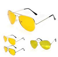 mens gece görüş gözlükleri toptan satış-Gece NV Gözlük Moda Yüksek Kalite Erkekler Bisiklet Güneş Gözlüğü Gece Görüş Gözlüğü Gözlük Gözlük Açık Spor Güneş Gözlükleri Güneş gözlükleri MENS