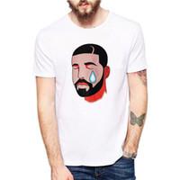 chemises grises noires pour hommes achat en gros de-3 Couleurs Hip Hop Tees T Shirts Hommes Femmes Imprimé Coton 2018 Vêtements UK US CA en stock XS-3XL Noir Blanc Gris