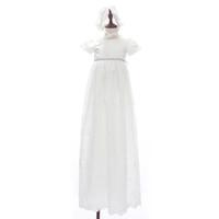95a34fb0df7 Été Vintage Enfant En Bas Âge Bébé Fille Robe D anniversaire Robe De Baptême  1er Fête D anniversaire Blanc Baptême Princesse Robe Longue Avec Chapeau