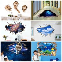 Wholesale Green Eco Walls - Self Adhesive PVC Paster Waterproof Anti Slip 3D Wall Stickers Removable Eco Friendly Sticker Hot Sale 5 6pc B