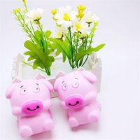 Wholesale toy cute online - Squishy Cute Pink Pig Design Slow Rising Jumbo Pu Squishies Bread Adults Decompression Toys Relief Pressure High Quality bq Z