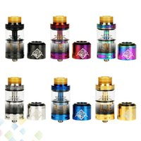Wholesale fancy metal - Authentic Uwell Fancier RTA&RDA Atomizer 24MM 4ml Fancier RTA with extra RDA top cap 6 Colors Tank E Cigarette DHL Free