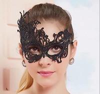 mascarilla mujer sexo al por mayor-Venta al por mayor Sexo Máscara de encaje Sexy mujeres de encaje Tela Dance Party Misterioso Retro Máscaras Mascarada de la mascarada Disfraz Media mascarilla DHL libre
