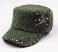Wholesale Wide Brim Baseball Cap - Hip Hop Skull Flat Hats Punk Rivet Men Army Hat Cool Woman Casual Baseball Cap Brand Fitted Hats