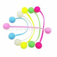 Wholesale plastic toy yoyo - Finger Yo Yo Decompression Toys Multi Color Silicone Fingertip Yoyo Reduced Pressure Toy Kid Gift 4 2zg C