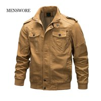 мужская одежда оптовых-MENSWORE Mens Coat  Style  Jacket Male Long Cotton Zipper Clothes Thick Force Bomber Jacket