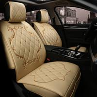 ingrosso set di copri sedili marrone-Coprisedili di lusso in pelle PU per Citroen Tutti i modelli c4 c5 c2 c3 scarico NERO / ROSSO / BEIGE / MARRONE accessori auto