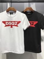 Wholesale modal tees tops - Brand 2018 Fashion Men's Clothes Short Sleeve T-shirt Casual Tees High Quality Print D2 Crew Neck Mens Tops Summer T-shirt Skateboards Shirt
