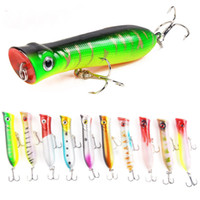 Wholesale topwater plastic lures for sale - Group buy Popper Topwater Fishing Lure g cm Plastic Hard bait Poper Fishing Tackle Artificial Bass Floating Pencil Pesca Wobbler