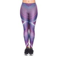 Wholesale women colorful yoga pants online - Women Leggings Futuri Stripes D Print Girl Stretchy Pencil Pants Yoga Colorful Pattern Sportwear Elastic Waist Soft Trousers YX52029