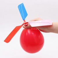 uçak oyuncak diy toptan satış-Uçan Balon Helikopter DIY balon uçak Oyuncak çocuk Oyuncakları öz-kombine Balon Helikopter EMS ücretsiz kargo C4532