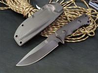 couteaux achat en gros de-Promotion CR Survival Tactical Droit Couteau 9Cr18Mov Noir Lame Point De Goutte Noir G10 Poignée Fixe Couteaux À Lame Avec Gaine ABS K