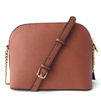 haberci çanta desen toptan satış-Ücretsiz kargo 2018 marka moda lüks tasarımcı çanta kabuk çanta çapraz desen sentetik deri zincir çanta omuz Messenger çanta