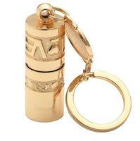 мини-фонарик кнопки оптовых-Золотой мини Портативный светодиодный фонарик Факел лампы водонепроницаемый портативный открытый кемпинг туризм Брелок фонарик мощность от кнопки батареи