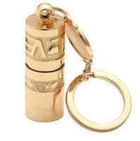 Golden Mini Portable LED Flashlight Torch Lamp Waterproof Handheld Outdoor Camping Hiking Keychain Flashlight Power by Button Battery