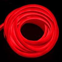 cabo flexível de néon venda por atacado-LEVOU Luz de Tira Flexível AC 220 V SMD 2835 LED Neon Flexível 120 LED IP68 Tubo À Prova D 'Água Corda Luzes com UE Plug Power