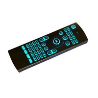 Wholesale wireless keyboards colors for sale - Stock GHz MX3 Fly Air Mouse Laser Keyboards Qwerty Wireless Remote Controller for Android TV Box RGB colors backlight keyboard
