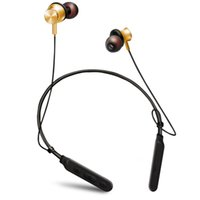 Wholesale professional magnets resale online - Neck band style Bluetooth metal magnet headset bass stereo waterproof and perspiration super long standby professional sport music headphone