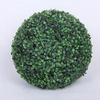 ingrosso pianta di erba interna-Sfera di plastica dell'erba della pianta artificiale del diametro di 50cm per la decorazione all'aperto dell'interno della festa nuziale Trasporto libero W7190