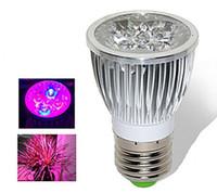 plante led élève la lumière 15w achat en gros de-E27 15W Led élève la lumière de l'ampoule Diammable de lampe pour l'éclairage d'intérieur AC85-265V de système de plante hydroponique et de culture hydroponique avec du CE ROHS