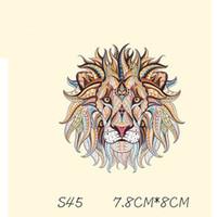 remendo de ferro do leão venda por atacado-Leão dos desenhos animados Cabeças Etiqueta T Camisa Patches Engraçados DIY Adesivos Para T-shirt de Ferro-em Transferências Remendos Para Roupas