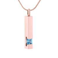 Wholesale cremation urns for sale - Group buy ijd9726 Light blue purple pink red clear Rhinestone Cylinder Urn Pendant Necklace For Pet Human Cremation Jewelry by Everlasting Memories