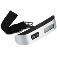 Wholesale hand weigh scales for sale - Group buy Mini Digital Luggage Scale Hand Held LCD Electronic Scale Electronic Hanging Scale Thermometer kg Capacity Weighing Device Luggage Scales