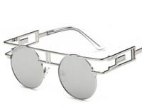 gafas de sol de marca china al por mayor-Gafas de sol mujeres gafas de moda diseñador de la marca gafas de sol redondas de la vendimia retro Venta al por mayor gafas ópticas
