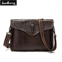крокодиловый портфель оптовых-alligator Men Briefcase Genuine Leather Business Bag Crocodile Leather Laptop Shoulder Bag fashion Men's Messenger Travel Bags