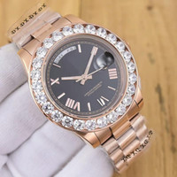 Wholesale Complete Machine - Top Luxury Brand Rose Gold Men's Watch Roman large diamond automatic machine 43mm waterproof