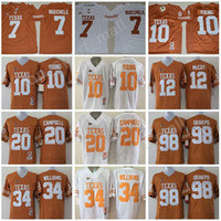 Wholesale Burn Big - College Football NCAA Texas Longhorns Jerseys Buechele Campbell Young Williams McCoy Orakpo Big 12 Burnt Orange White Embroidery University
