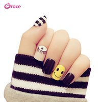 Wholesale art curves for sale - B41 artifical c curve nail tips press on nail art tips pre designed decorative nail tips