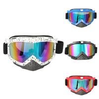 ingrosso occhiali da bicicletta-Occhiali da moto ATV Dirt Bike Racing Dirt Bik Occhiali da vista anti-UV Siing