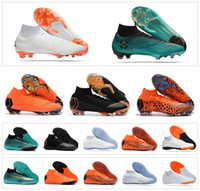 Wholesale tf shoes - Mercurial Superfly SuperflyX KJ VI XII 360 Elite Ronaldo 6 12 CR7 FG TF IC High Mens Women Boys Soccer Shoes Cristiano Football Boots Cleats