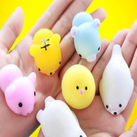 Wholesale wholesale kids holiday toys - Squishy Squeeze Mini Animal Toys Mix Soft Tpr Cartoon Kawaii Decompression Toys For Kids Adult Party Favor XMAS Gifts HH7