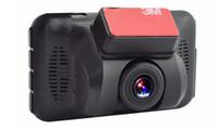 câmeras de exibição completa venda por atacado-1080 P carro DVR 3 polegada pára-brisa câmera full HD traço do carro cam 140 graus ângulo de visão ampla WDR G-sensor de gravação de loop monitor de estacionamento