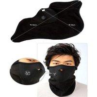velo de neopreno negro al por mayor-Nuevo 1x neopreno cuello caliente cara negro suave máscara deporte motocicleta bicicleta Velo Cap