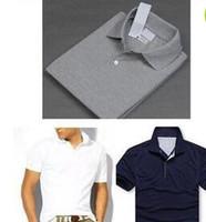 Wholesale Mens Logo Shirts - Hot Sale 2017 New Polo Shirt Men High Quality Crocodile Embroidery LOGO Big Size S-6XL Short Sleeve Summer Casual Cotton Polo Shirts Mens