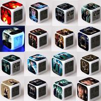 ledli dijital masa saatleri toptan satış-21 Stilleri Harry Potter Saat İşlevli Dijital Danışma Çalar Saat LED Dokunmatik Işık Masa Saati ile masa Saati GGA809 20 adet