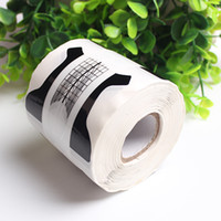 Wholesale art curves for sale - 300pcs roll Black Nail Forms Nail Art Tip Acrylic Curve UV Nails Gel Extension Guide Stickers Manicure Stying Sticker Tools